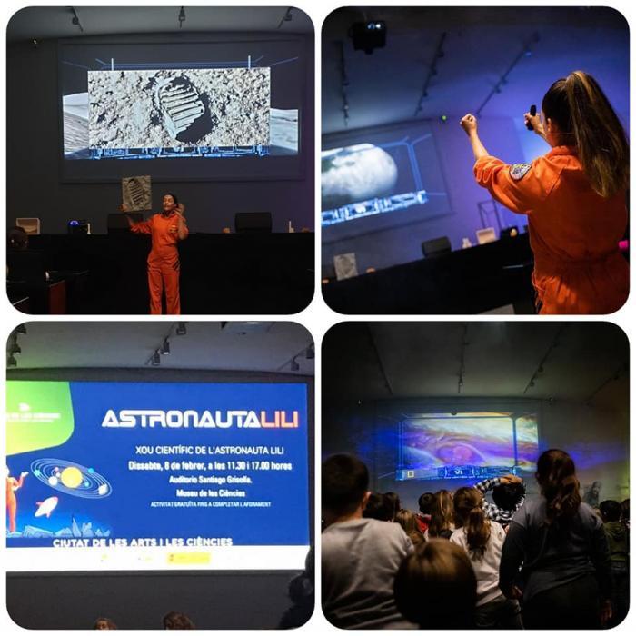 Astronauta LiLi en la Ciudad de las Artes y las Ciencias de Valencia