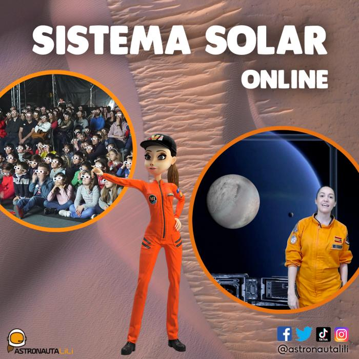 Astronomia para niños online - astronauta LiLi